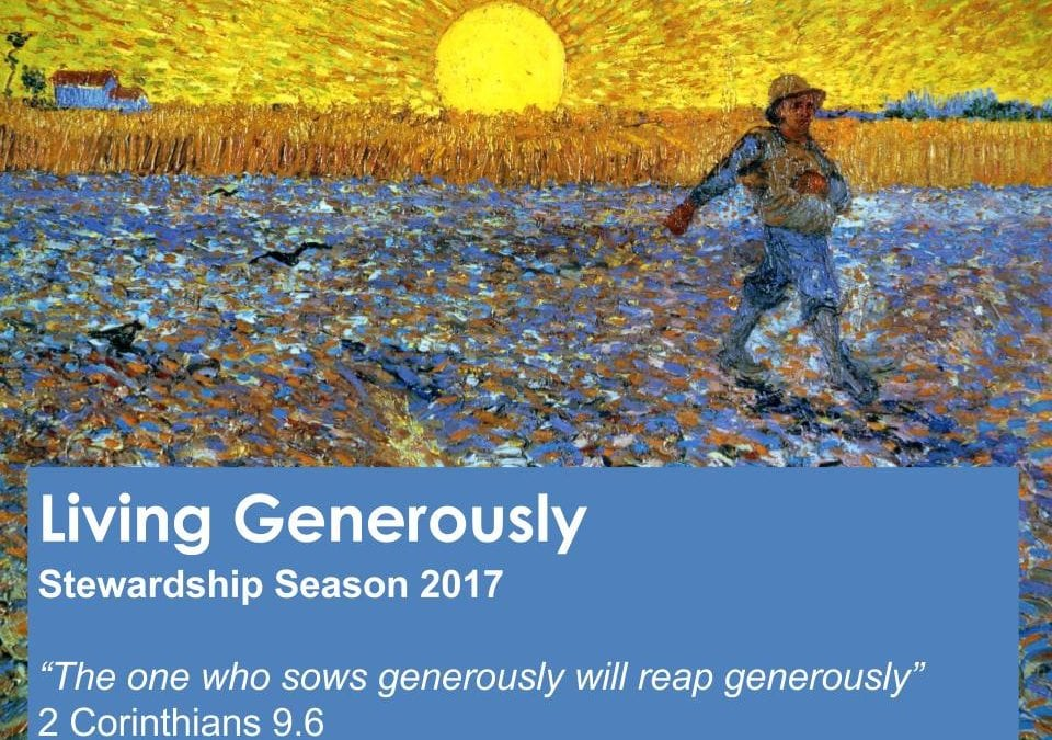 Living Generously – What We Give A Sermon by Alan Sherouse