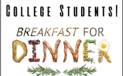 College Breakfast for Dinner