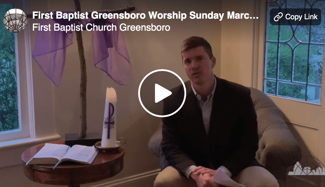 """Where Were You, Lord?"" A Sermon by Alan Sherouse"