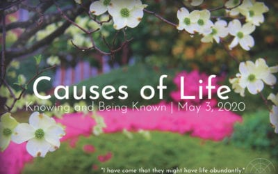 """""""Causes of Life: Knowing and Being Known"""" A Sermon by Alan Sherouse"""