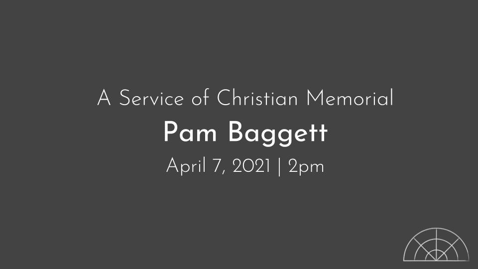 Pam Bagget Memorial Service