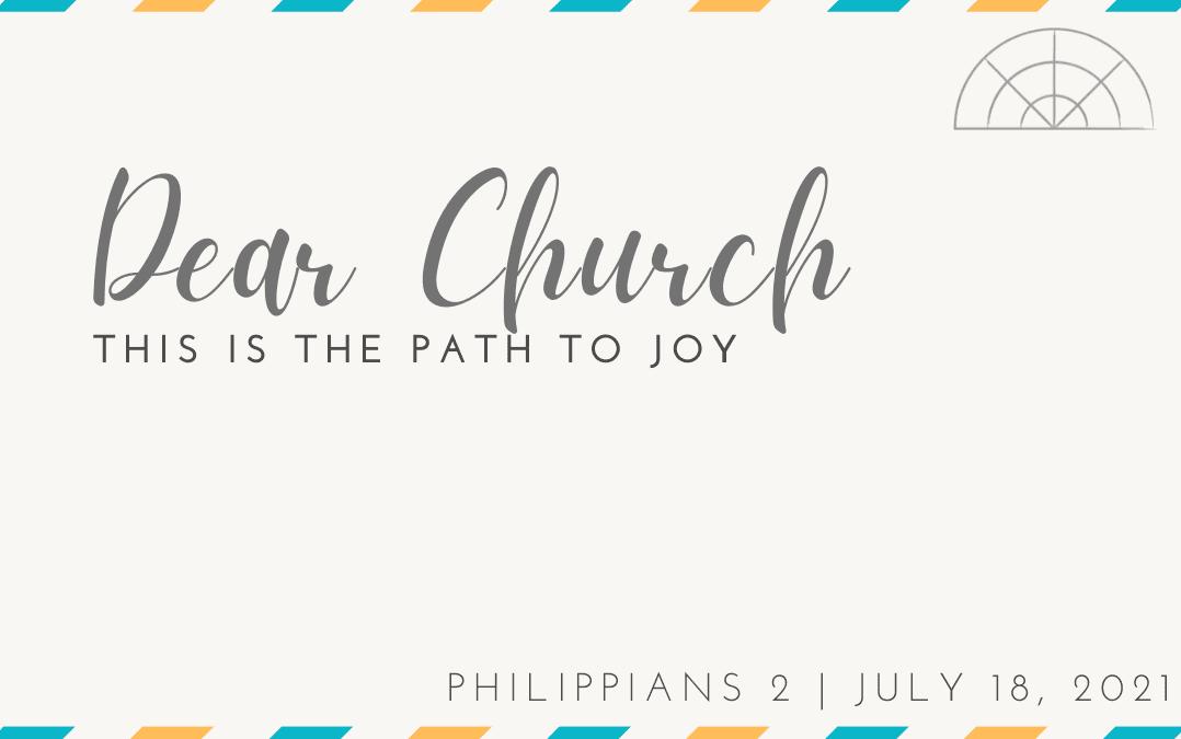 """Dear Church: This is the Path to Joy"" A Sermon by Alan Sherouse"