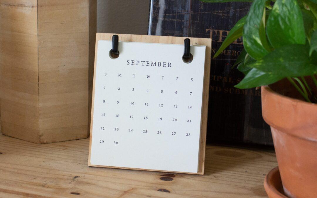 Fall Calendar 2021